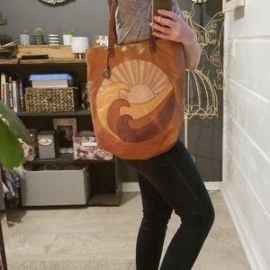 Leather The Sak bag